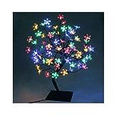 45 cm/60 cm Arbre lumineux décoratif Lampe Fleurs de cerisier avec 72/90 lumières de Noël à LED...