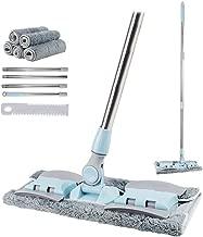 Egeen Professional Microfiber Mop, Hardwood Floor Mop, Stainless Steel Handle, 5 Pieces..