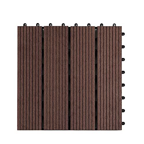 Wood Plastic Composite decking Tiles Outdoor Interlocking Deck Tiles Outdoor, 12''x12'' Patio Tiles Outdoor Interlocking All Weather,Water Resistant for Indoor,Patio,Balcony,Porch,Backyard,1 PCS
