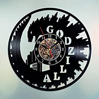 Godzilla Vinyl Record Wall Clock - Home Room or Bedroom Wall Decor - Gift Ideas for Boys and Girls, Friends – New Movie Un...