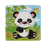 Routefuture Jouet éducatif pour Enfants Pas Cher, 9PC Puzzles avec Cadre Panda...