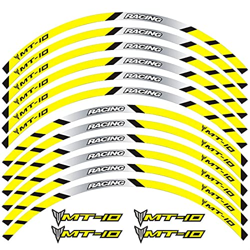 Accesorios de Carreras Rueda Operado Neumático Rume Creative Decal Emblem Motorcycle Pegatina Reflectante Personalizada para Yamaha MT-10 MT10 (Color : 240177)