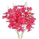 DWANCE 2pcs Flores Artificiales Ramo de Seda Narciso Artificial Flores Rosa roja Decoración para Hogar Cocina Balcon Mesa Terraza Jardin Baño Fiesta Boda