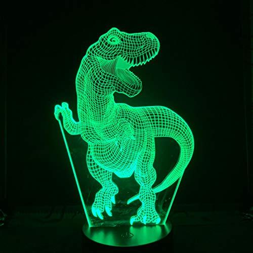 Luz de noche Ilusión óptica Lámpara 3D 7 colores Cambio de control táctil Luz de mesa LED Lámpara para dormir Decoración del hogar Cumpleaños/Navidad/Regalos de fiesta para niños (250)