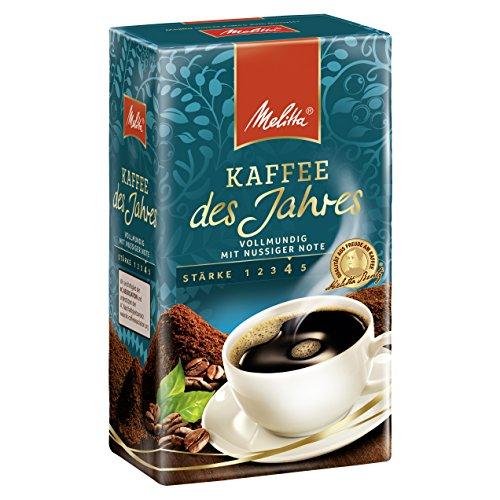 Melitta Gemahlener Röstkaffee, Filterkaffee, vollmundig mit nussiger Note, kräftiger Röstgrad, Stärke 4, Kaffee des Jahres, 6x500 g