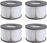 YXLM Cartouches Filtrantes de Rechange MSpa pour Whirlpool-Cartouche Filtrante,pour Piscines Gonflables - pour sous-Marins et Spa Chauds Modèle à Partir de 2020 (4 pièces)