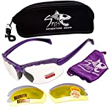 Spits C2 Bottom Focal Magnifier Shooting Safety Glasses 7 Frame Colors (Frame Color: Purple, Magnifier: 1.5)