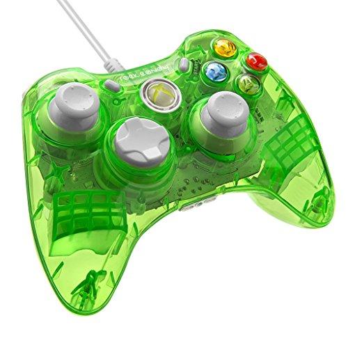 PDP - Mando Con Cable Rock Candy, Licenciado, Color Verde (Xbox 360)