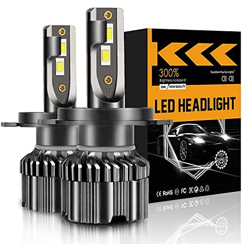 LRTER H4/9003 LED Headlight Bulbs 6000k Cool White 12000 Lumens 60W High Beam/Low Beam Halogen...
