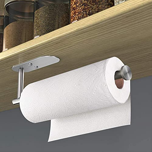 zilitol Paper Towel Holder Under Cabinet Self Adhesive Kitchen Countertop...