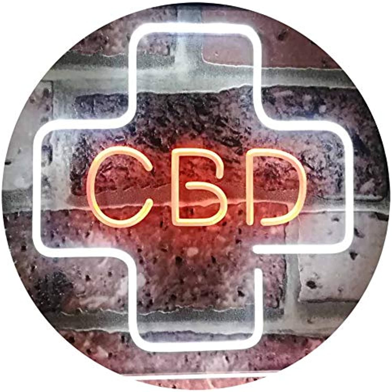 ADVPRO CBD Oil Sold Here Cannabidiol Medical Cross Indoor Dual Farbe LED Barlicht Neonlicht Lichtwerbung Neon Sign Weiß & Orange 400mm x 300mm st6s43-i3083-wo