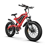 Aostirmotor 26×4 Fat tire Electric Mountain Bike 48V15AH Removable Lithium Battery&500W Motor ebike for Adults