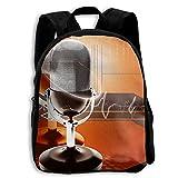 School Season Kids Backpack Bookbag,Child Microphone Recording Shoulder Bag