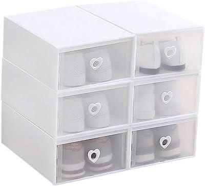 BOZEVON Caja de Almacenamiento de Zapatos Apilable - Plastico ...