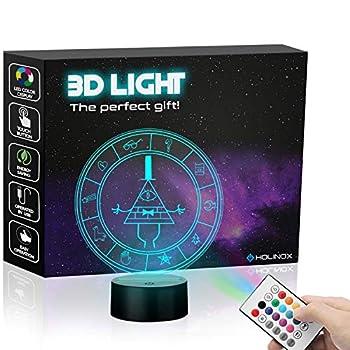 Gravity Falls Bill Cipher Wheel Lighting Decor Gadget Lamp  Awesome Gift  MT026