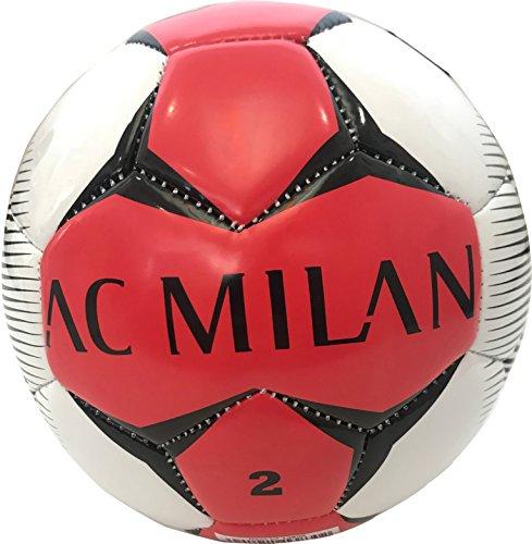 Mondo Sport -Pallone da Calcio Cucito A.C. Milan, Colore Nero, Size 2, 144934