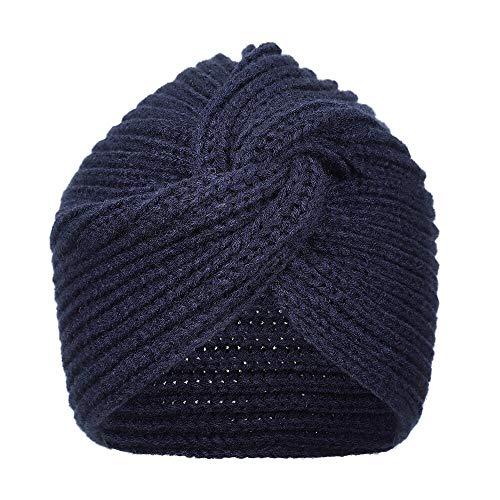 Stirnband Haarband Damen Damen Gestrickte Turban Hüte Knoten Bandanas Stirnband...