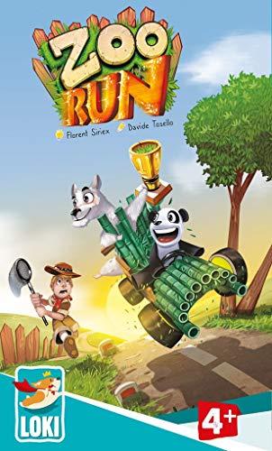 Lúdilo-Zoo Run Loki, Mesa para niños, cooperativo, Juegos educativos Infantiles, Color carbón 516009