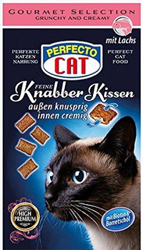 Perfecto Cat Feine Knabber Kissen mit Lachs 50g 9er Pack
