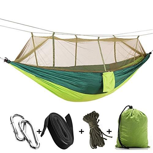 YZZ Hamaca de 360 Grados con mosquitera, Hamaca al Aire Libre, Cubierta de mosquitera, ejército de Protector Solar portátil Ultraligero Verde, removible (Color : B)