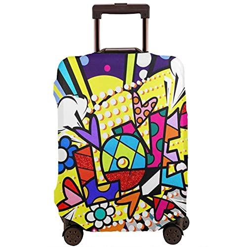 Kinsky Day Romero Britto - Custodia protettiva per valigie per proteggere i bagagli da polvere e graffi., bianco, 95