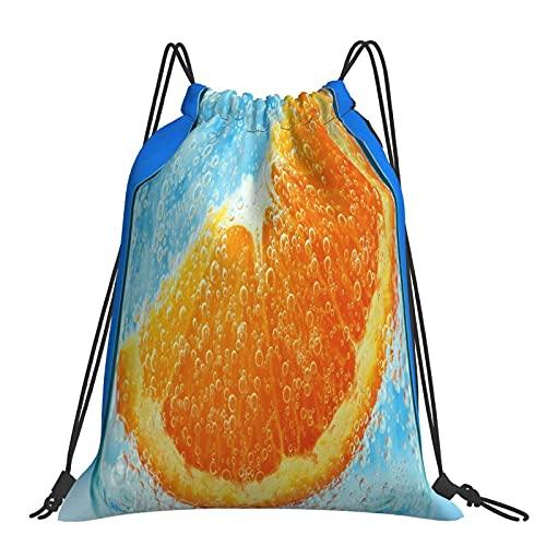 FJJLOVE Orange Nelke Wasser Liquid Drawstring Rucksack Tasche Sackpack Gym Sack Sport Beach Daypack