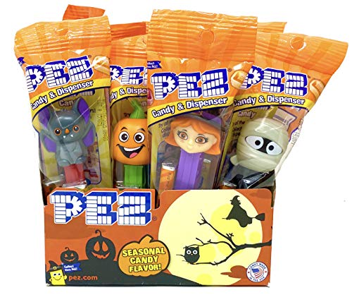 Halloween Trick or Treat PEZ Candy Dispensers: Pack of 12