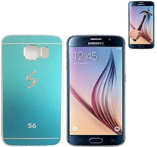 Todobarato24h Funda TPU Metalizada Compatible con Samsung Galaxy S6 G920 Azul +...
