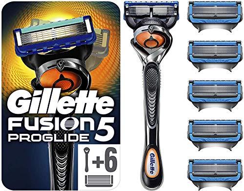 Gillette Fusion5 ProGlide - Maquinilla de Afeitar con 6 Recambios, Paquete Apto...