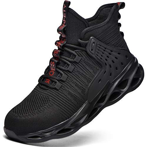 Chaussures De Sécurité Homme Femmes Embout Acier Protection Chaussures de Travail Anti-Perforation Confortable Léger Respirante Baskets de Sécurité Unisexes