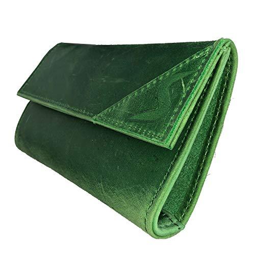 smokeshirt® Premium Tabaktasche echt Leder, Single oder Double-Paper Dreher-Tasche mit Magnetverschluss, Tabak-Beutel div. Farben und Leder-Design für Damen u. Herren