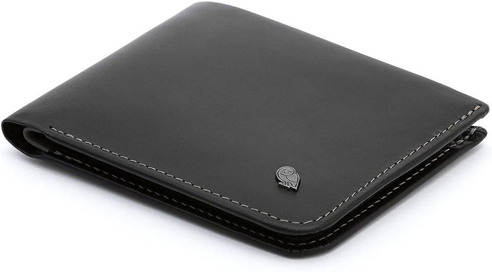 Bellroy hide & seek wallet, portafoglio sottile in pelle per uomo, porta carte di credito, WHSD-BLK-301_SML