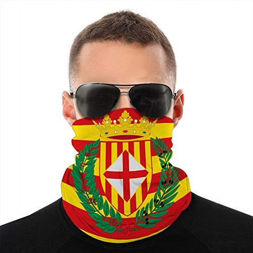 Xunulyn Cubra Cuello Polaina Cubra Sombreros Cubre Sol Diadema Pasamontañas Bandera de Barcelona es una Provincia de España Pasamontañas Bufanda Cubierta