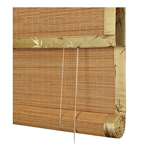 CHAXIA Enrouleurs Store en Bambou Rideau Style Japonais Maison De Thé Couper Lumière De Couverture Satin De Soie Hemming, 3 Couleurs Multi-Taille, Personnalisable (Couleur : C, Taille : 135x225cm)