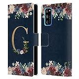 Head Case Designs sous Licence Officielle Nature Magick Letter G Monogramme Florale Or Navy Coque en...