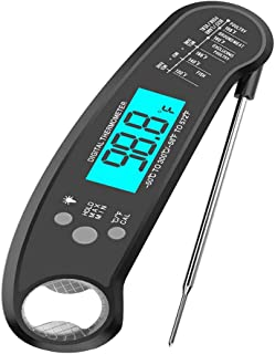 Detachable Fold Food Thermometer, BBQ Thermometer, BBQ Thermometer Intelligent, Bottle Opener Thermometer
