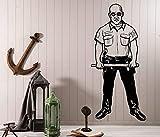Tianpengyuanshuai Película de Cine Etiqueta de la policía héroe habitación Joven Estudiante Dormitorio decoración del hogar Tatuajes de Pared 50X106cm