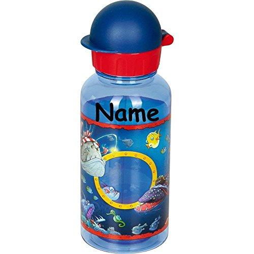 Drinkfles * Capt'n Sharky * voor school en kleuterschool van Spiegelburg | fles met en zonder naam opdruk | kinderen capaciteit piraat jongens
