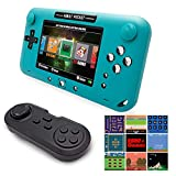 EASEGMER Handheld Games Consoles for Kids Adult, Built-in 2000+ Retro Handheld Games Player with 16 TF Card - 4' LCD Electronic Games with 16 Bit Game Controller for Travel and Gifts- Blue