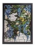Dale Tiffany Mosaic Art Glass Wall Panel, Grapevine Design-3