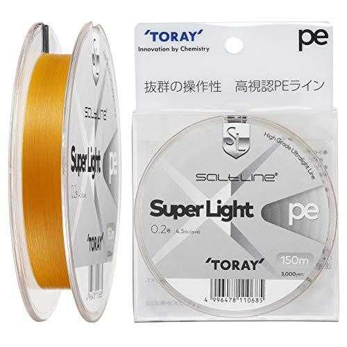 東レ(TORAY) ライン ソルトライン スーパーライト PE 0.2号(4.5lb) F72N
