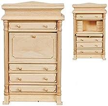 1:12 Dollhouse Miniature ~ New in Box Unfinished Wood Dresser w//Mirror ~ GW091