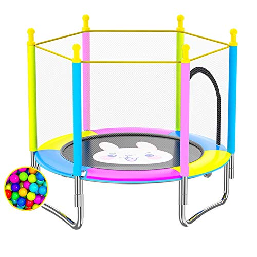 HH- 60inch Kinder-Trampolin Mit Sicherheitskabine - Ideal Innen- Und Außen Garten Trampolin for Kinder Geburtstags-Geschenk