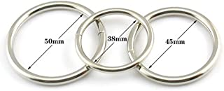 Villvi Double Beads Men's Exercise Enhancement Ring Stainless Steel 3 Size Adjustable