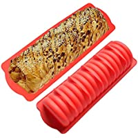 Learnarmy Molde de silicona para pan de oruga, molde de silicona para perritos calientes, molde para hornear DIY postre, 29,7 x 10,5 x 4,9 cm