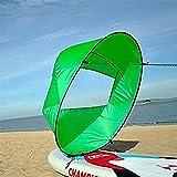 Vela para Kayak, Kayak Vela Paddle 42 Pulgadas Accesorios de Kayak Canoa Compacto y Portátil ( Color : Verde )