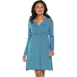 Coolibar UPF 50+ Women's V-Neck Dress – Sun Protective