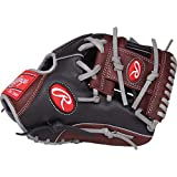 Rawlings R9 Baseball Glove, Black, 11.5'