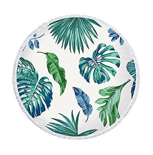 IAMZHL Hoja de plátano Planta Tropical Toalla de Playa Toallas de Playa Grandes Toalla de Microfibra Toalla de Playa Estera de Yoga Toalla de baño Toalla de Playa de mar-a4-50cm