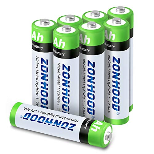 Rechargeable AAA Batteries, AAA Batteries 1100mAh High-Capacity Rechargeable Batteries 1.2V Ni-MH Low Self Discharge Lasting Power Recharge Battery (8PACK)